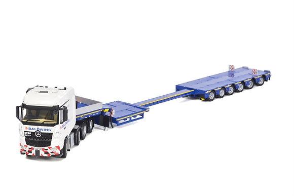 Baldwins Crane Hire MB Arocs Big Space SLT 8x4 Broshuis SL 100 ton Range Trailer