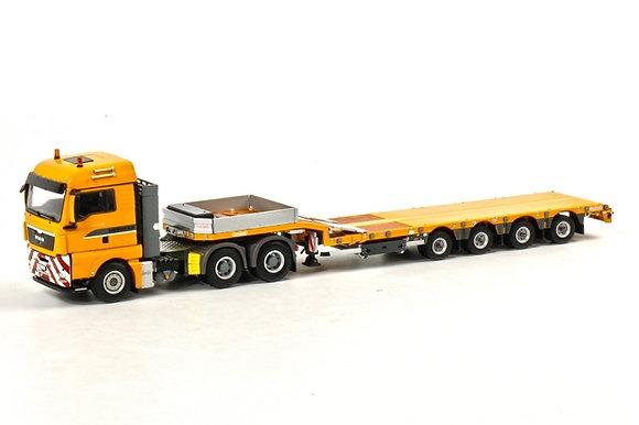 Liebherr  MAN TGX XLX Nooteboom step frame trailer (4 as)