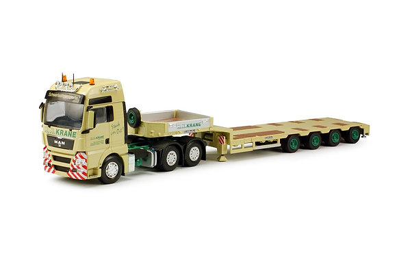 Krane H.N. MAN TGX XXL with Goldhofer semi-lowloader 4-axles