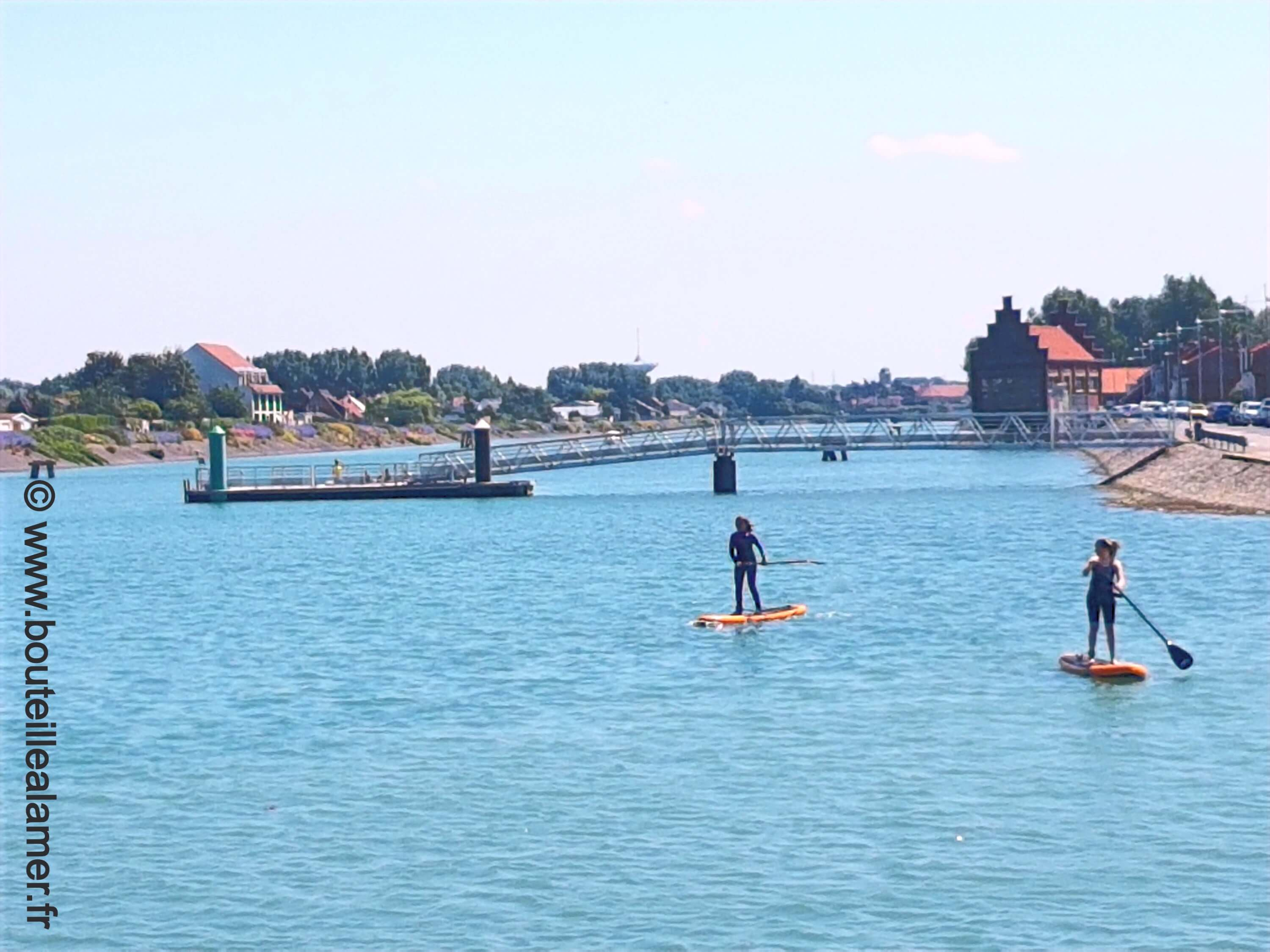 Paddle in the sea arm in Gravelines