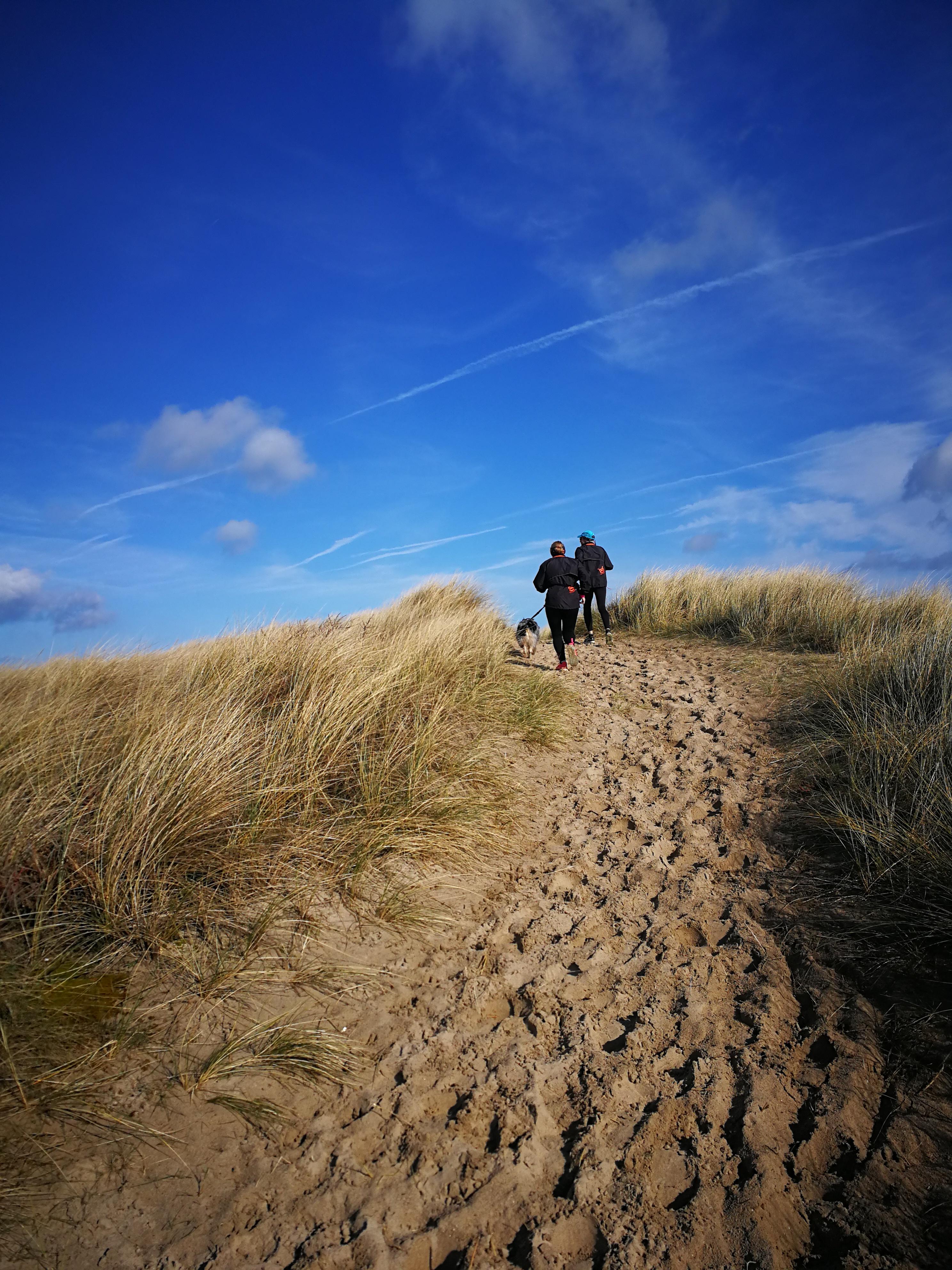 Course à pied dans les dunes