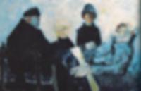 Tableau de Van Hecke, derniers moments du Capitaine Simon pêcheur d'Islande à Fort Philippe