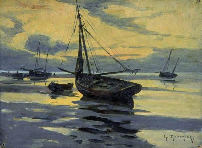 Barques de pêche au repos - GM