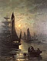 Durant vos vacances sur la Côte d'Opale, découvrez le Chenal de Gravelines à travers les peintures et photographies de Georges Maroniez (1865 -1933)