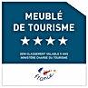 Panneau de classement 4 étoiles pour meublé de tourisme