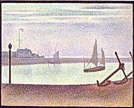 Vacances Côte d'Opale: Decouvrez Fort Philippe à travers les touches impressionnistes du chenal de Gravelines à travers les peintures marines de Georges Seurat (1859 - 1891)