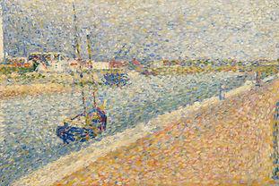 Vacances Côte d'Opale: Decouvrez Fort Philippe à travers les touches impressionnistes du chenal de Gravelines à travers les peintures marines du peintre Georges Seurat (1859 - 1891)