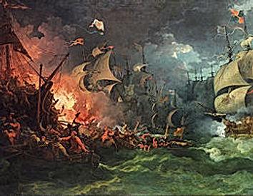 La bataille de Gravelines (Grevelingen en néerlandais) eut lieu le 8 août 1588 entre la flotte anglaise commandée par l'amiral Charles Howard de Nottingham et l'Invincible Armada pendant la guerre anglo-espagnole (1585-1604). Elle vit la victoire revenir aux Britanniques, même si aucun navire espagnol ne fut coulé par les anglais.