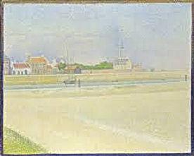 Vacances Côte d'Opale: Decouvrez Grand Fort Philippe à travers les touches impressionnistes du chenal de Gravelines par Georges Seurat (1859 - 1891)