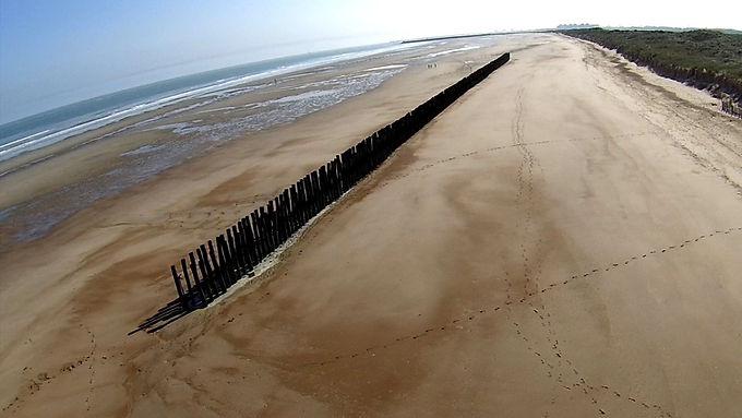 """A 15mn à piedde la maison """"Bouteille à la mer"""" par la réserve naturelle du Platier d'Oye"""