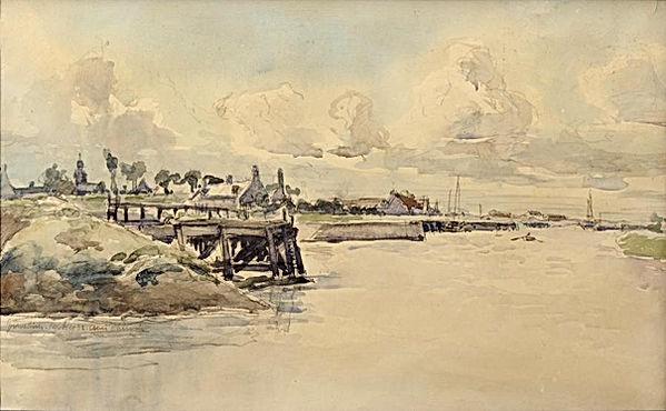 Louis Chervin L'entrée du port de Gravelines