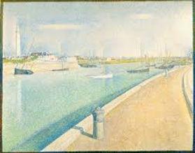 Vacances Côte d'Opale: Decouvrez Fort Philippe à travers les touches impressionnistes du chenal de Gravelines à travers les peinture marines du peintre Georges Seurat (1859 - 1891)