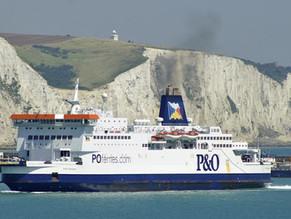 A 45mn de la maison, la traversée Calais Douvres en bateau avec P&O Ferries ou la compagnie Danoise