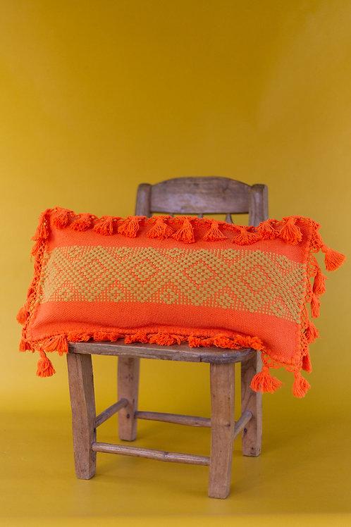Orange Telar Pillow