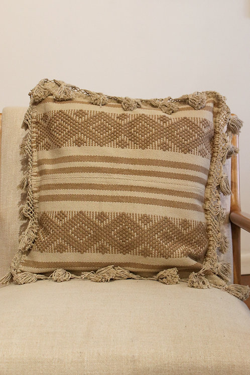 Light Brown Telar Pillow