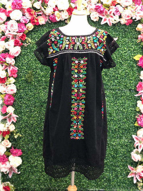 M/L Black Chanel de Chilac Dress