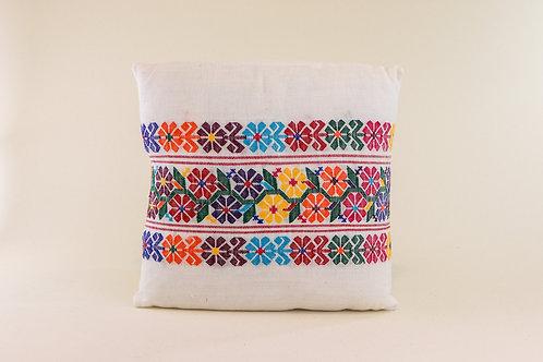Xochistlahuaca White Pillow