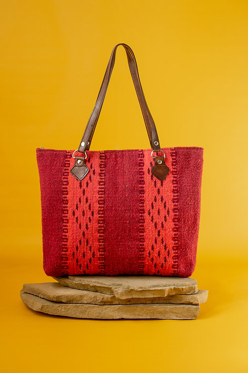 Wool Tote Bag with Natural Dyes