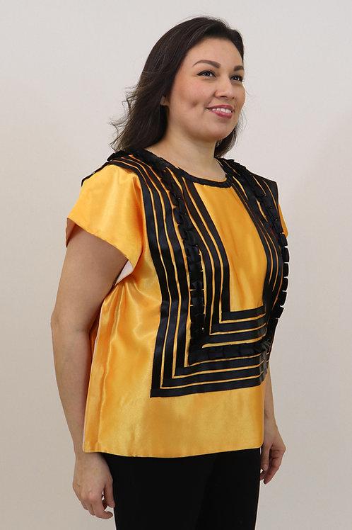 L/XL Black on Yellow Tehuana