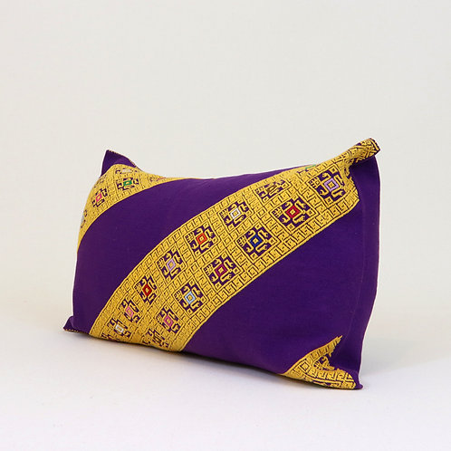 Yellow on Purple Pillow Cover