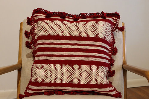 Red Telar Pillow