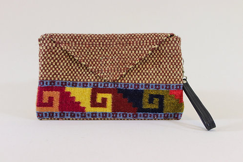 Wool Clutch Bag with Natural Dyes