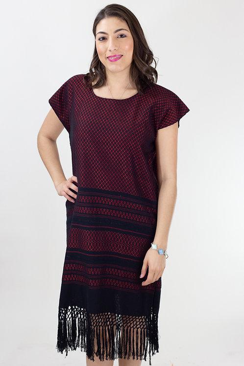 Red on Black Mitla Dress