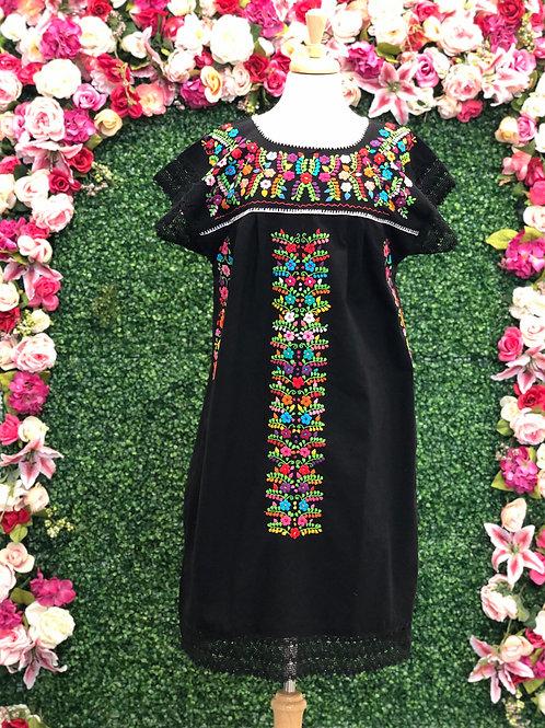 M/L Black Chanel de Chilac Dress