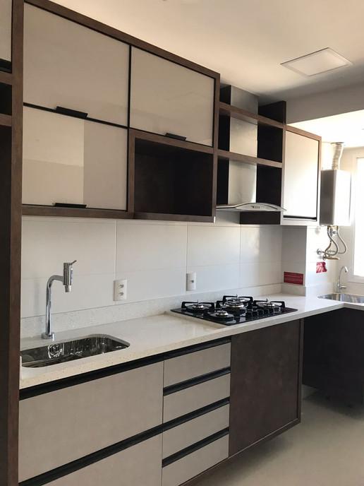 Cozinha decorada com efeito x