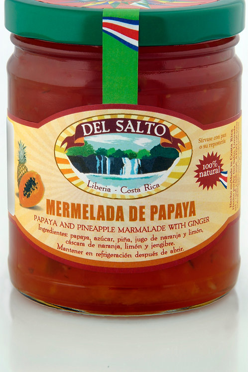 Mermelada de Papaya -  Papaya and Pineapple Marmalede with Ginger - 9oz