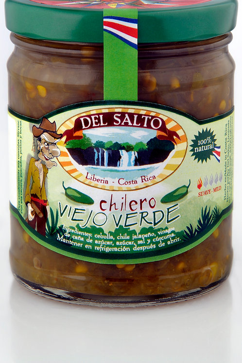 "Chilero Picante ""Viejo Verde"" - Tico Style Hot Chunky Jalapeño - 9oz"