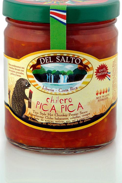 Chilero Pica Pica - Tico Style Hot Chunky Sauce - 9oz