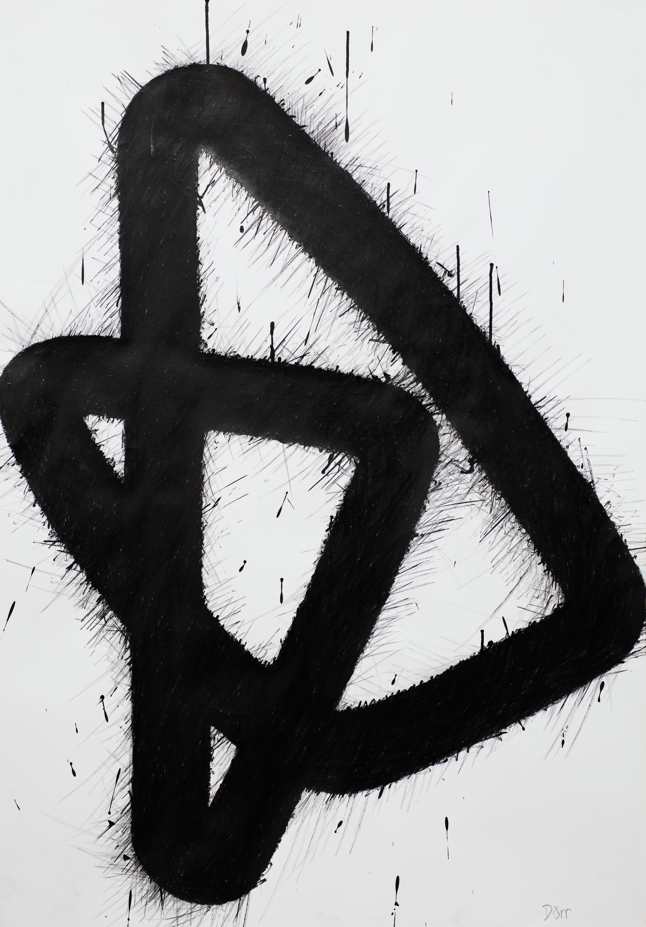 Linie, Tusche auf Papier, 2020