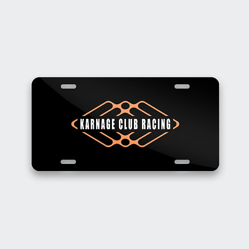 K.Club Racing License Plate
