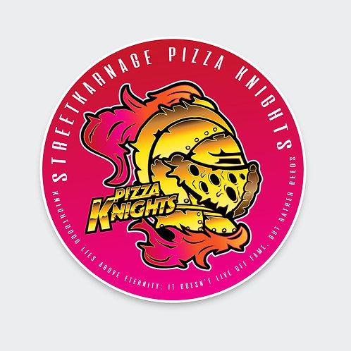 Pizza Knights Emblem Sticker
