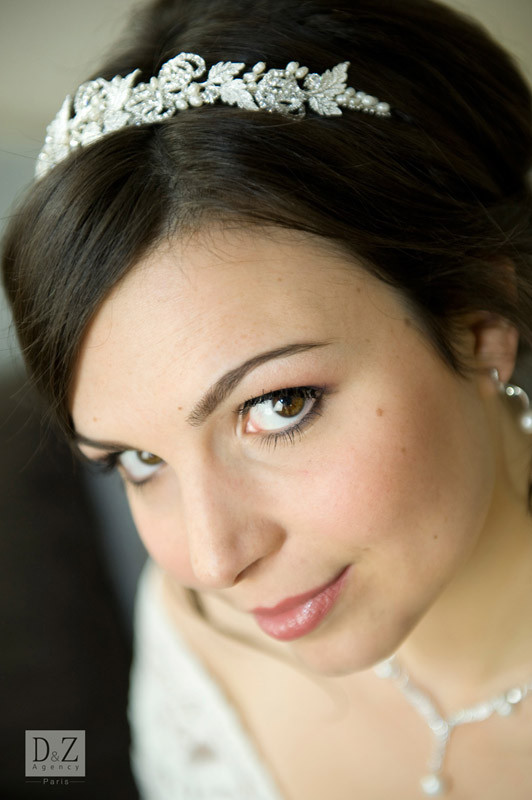 diadème mariée - D&Z Agency - coiffure mariage et accessoires - Photo Indé-Design