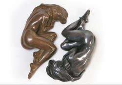 La Frileuse - bronze et aluminium