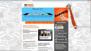 Cea-discount : Un site réalisé par Indé-design