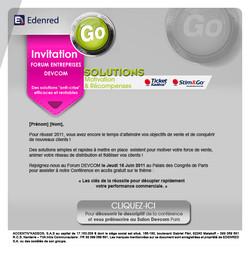 Mailing papier pour une invitation