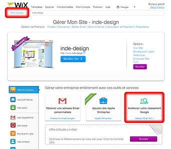 L'outil de référencement site WIX - conseils d'Indé-Design - SEO