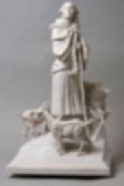 Exemple de création sur commande de sculpture - la bergère
