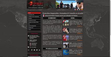 Site Wix école de formation garde du corps | Indé-Design