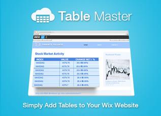 Table Master, la nouvelle application Wix: Les tableaux Google Drive (l'Excel en ligne)