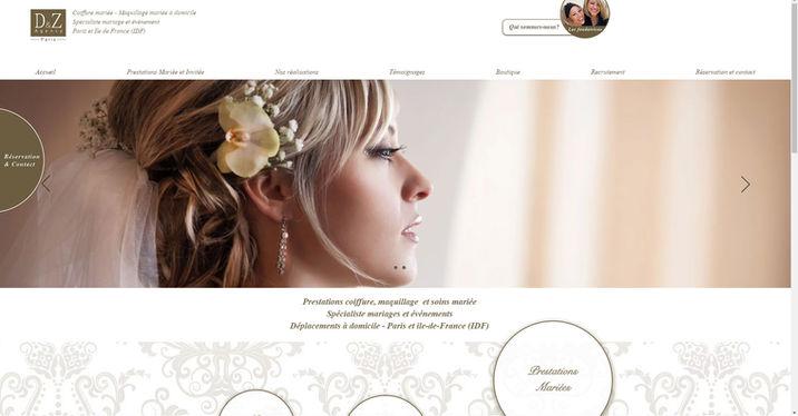 Site Wix pour agence événementiel dans le maraige | Indé-Design