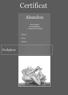 certificat du sculpteur Boulesteix