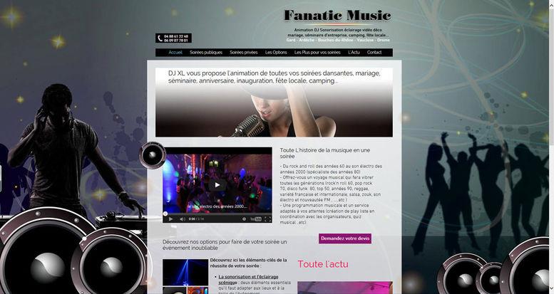 Site Internet Wix pour DJ | Indé-Design