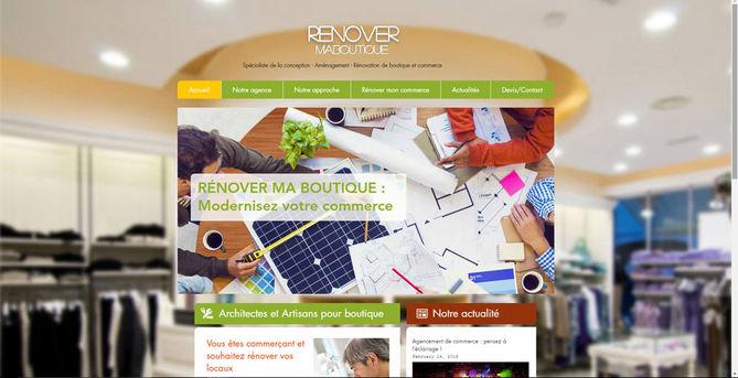 Site Wix construction et rénovation de commerce | Indé-Design