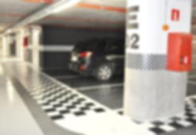 Revêtement sol en résine | parking et signalétique, marquages au sol | 2G Bâtiment