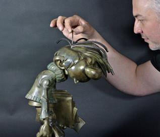 Les coulisses de la sculpture de Gaston Lagaffe