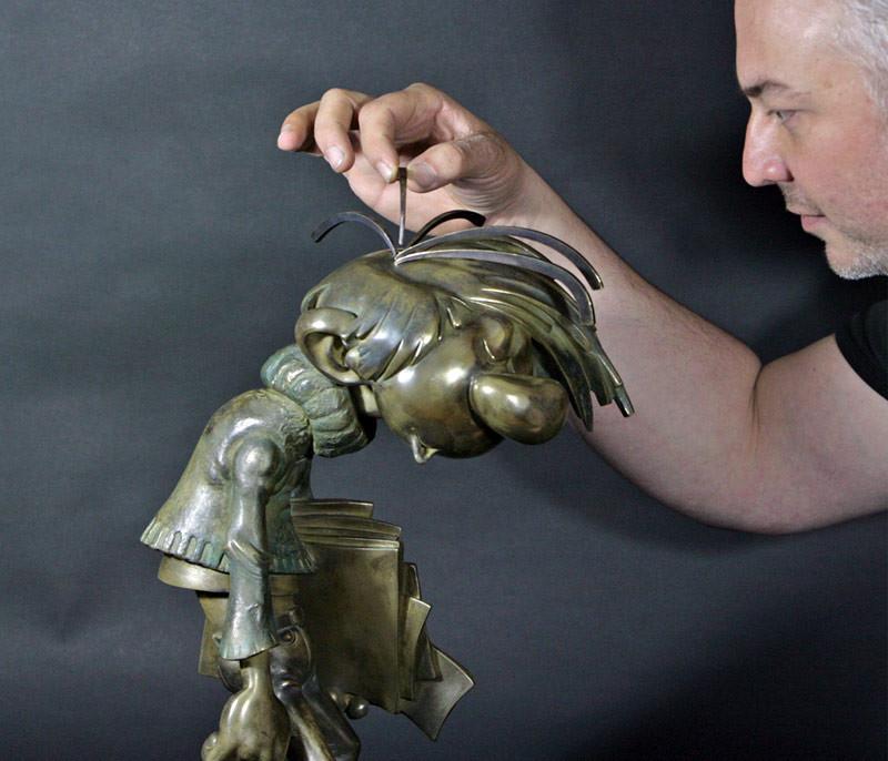Sculpture Gaston Lagaffe - Samuel Boulesteix